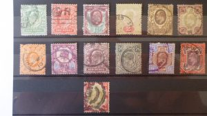 1 set of Scarce Edward VII used stamps 1/2d - 1/- (13 stamps) 1902 - 1910