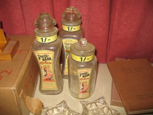 Antique Shop Storage Jars for Perfume