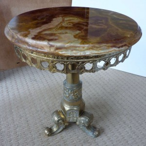A Marble Top Occasional Table