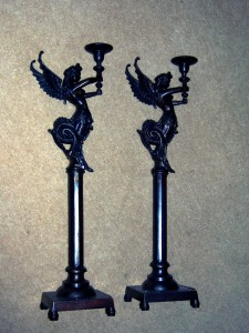 Metal candlesticks 60cm high