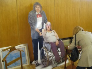 Life size cardboard cut outs of Lou and Andy from Little Britain