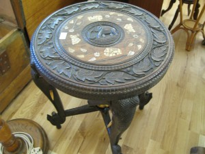 Indian Elephant Table - Sold for £50