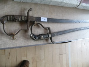 Lot 290 - 2 x 1930's and WWII German Army officer's / NCO's swords, Sold for £60