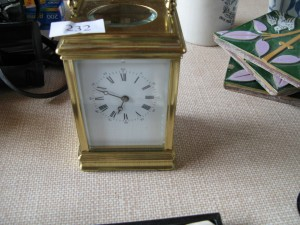 Lot 232 - carriage clock - Sold for £85