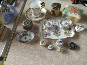 Lot 235 - collection of china including a dressing table set - Sold for £75