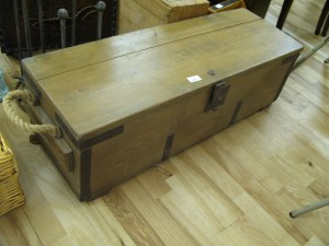 Lot 140 - Antique Pine Trunk - Sold for £28