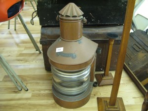 Lot 360 - Copper Ships Lamp - Sold for £65