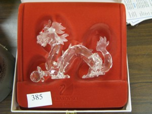Lot 385 Swarovski Dragon - Sold for £36