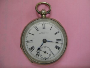 Lot 442 - Waltham pocket watch - Sold for £52