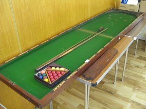 Folding Bar Billiards Table and equipment