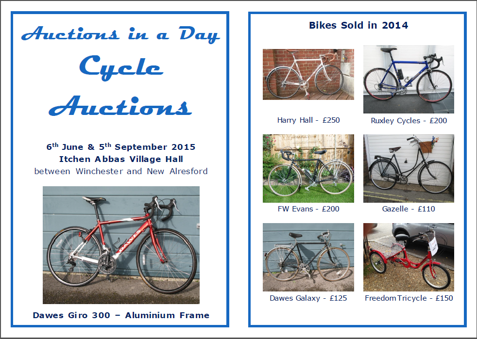 Cycle auction Flyer covers