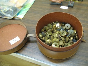 Lot 74 - Box of Military Brass Buttons - Sold for £30