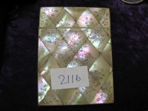 Lot 211b - Mother of Pearl Card Case - Sold for £32