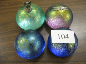 Lot 104 - Four Heron Glass Paperweights