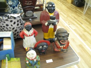 Lot 240 - Five Cast Iron Money Boxes Figures and Heads