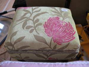 Lot 136 - Embroidered foot stool - Sold for £25