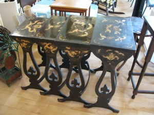 Lot 82 - Nest of Oriental Tables -Sold for £60