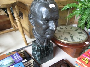 Lot 193 - Bronze Bust - Sold for £140