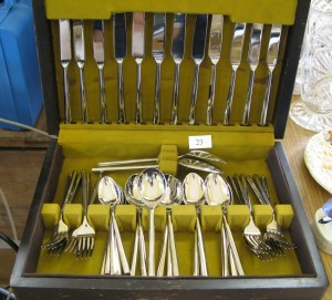 Lot 23 - Modern canteen of cutlery - Sold for £50