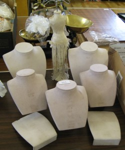 Lot 165 - Collection of jewelry display stands - Sold for £50
