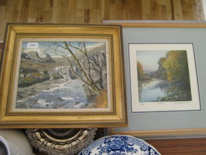 Lot 208 - Oil painting and water colour - Sold for £42