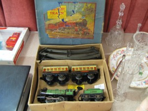 Lot 51 - Hornby clockwork train - Sold for £40