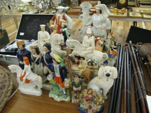 Large collection of Staffordshire figures. Sold for £130