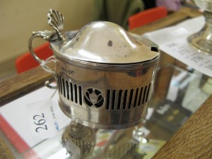 Lot 262 - Hallmarked Silver Mustard Pot - Sold for £45