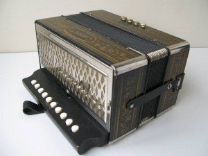 Hohner 1 Row Pokerwork Melodeon in G.