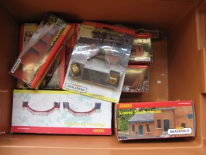 Lot 39 - Collection of Hornby OO Gauge Trackside Buildings and Other Items - Sold for £60