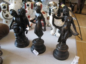 Lot 189 - 3 Bronze Statuettes of Ladies Made in France - Sold for £65