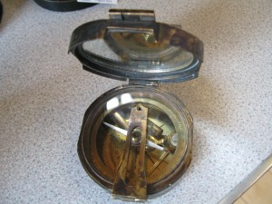 Lot 190 - Army Field Compass - Sold for £50
