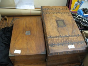Lot 52 - Two wooden boxes - Sold for £55
