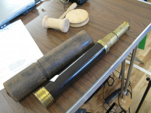 Lot 60 - Dolland London four draw brass telescope - Sold for £60