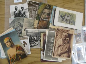 Lot 29 - Vintage postcards and photographs of African women - Sold for £38