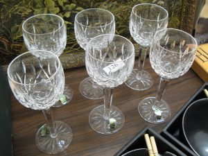 Lot 126 - Six Waterford wine glasses - Sold for £52