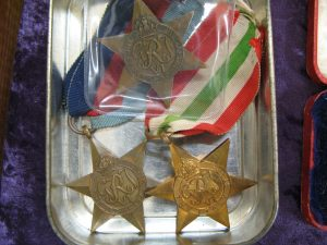 Lot 243 - Three WWII medals with ribbons - Sold for £35