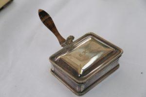 Silver plated cigarette box