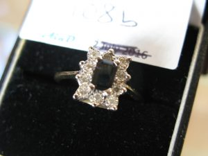 Lot 108b - Diamond and Sapphire Like Ring - Sold for £65