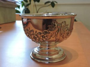 Lot 231 - Solid Silver Bowl Birmingham 1907 W G Keight & Co - Sold for £75