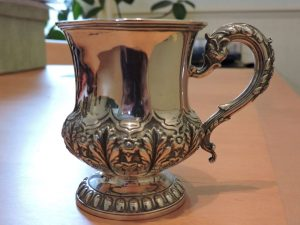 Lot 232 - Tankard London 1829 Barnard - Sold for £90