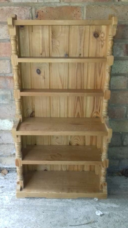 Pine bookcase or dresser (no cupboards) with six shelves
