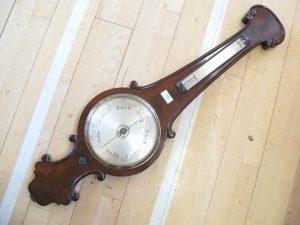 Lot 10 - Aneroid banjo barometer - Sold for £65
