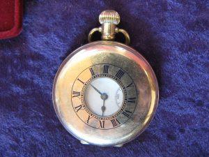 Lot 44 - Half Hunter pocket watch - Sold for £90