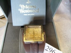 Lot 296 - Vivienne Westwood Time Machine watch in box - Sold for £50