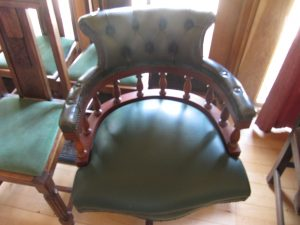 Lot 142 - Leather covered armchair - Sold for 45