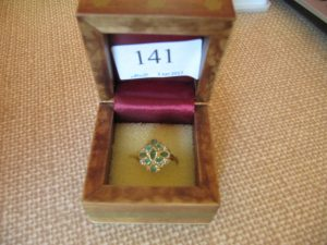 Lot 141 - Multi-stone ring - Sold for £30