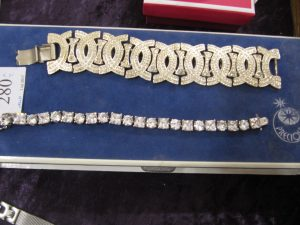 Lot 280 - Two costume jewellery bracelets - Sold for £35