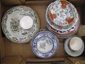 Lot 132 - Box of Far Eastern China - Sold for £65