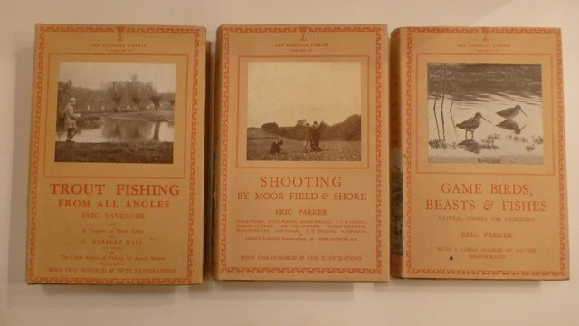 Lonsdale Library (3 Volumes) 1946/47 Trout Fishing, Shooting, Game Birds Beasts and Fishes - all superb condition with dust wrappers